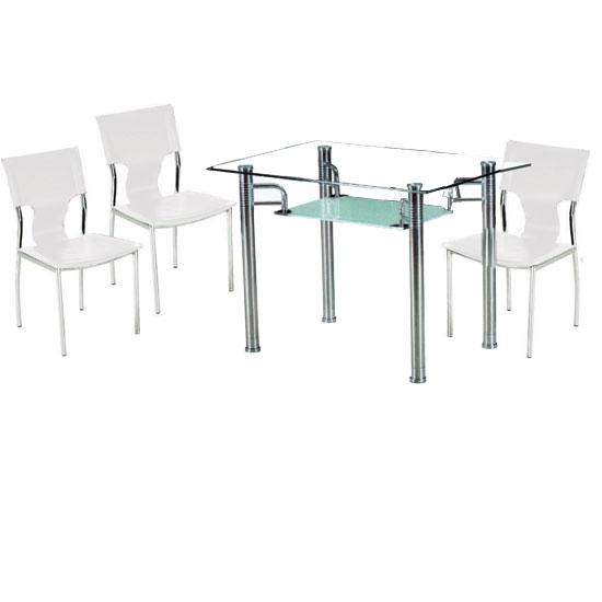 Frosted Glass Dining Table @ HomeHighlight.co.uk