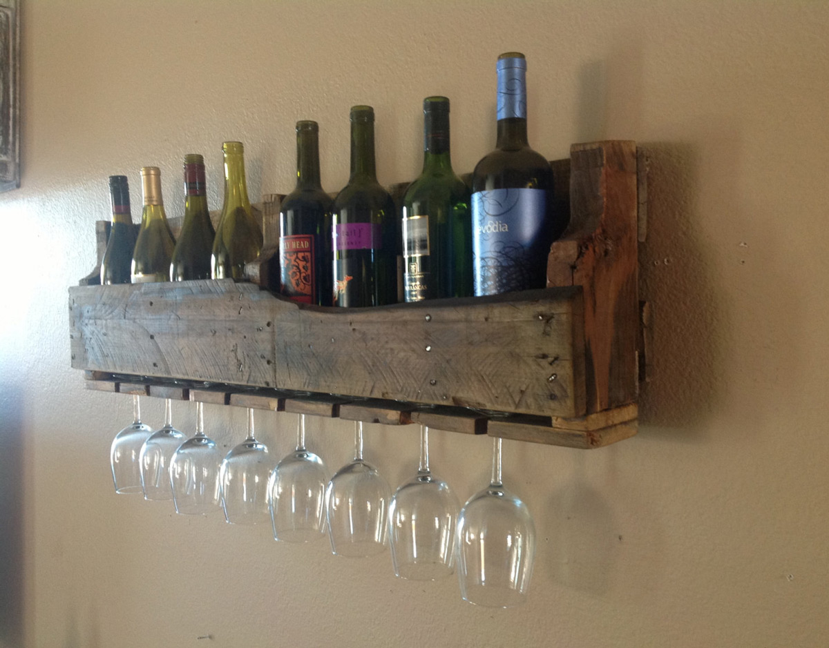 Reclaimed wood functional ideas home highlight Wine rack designs wood
