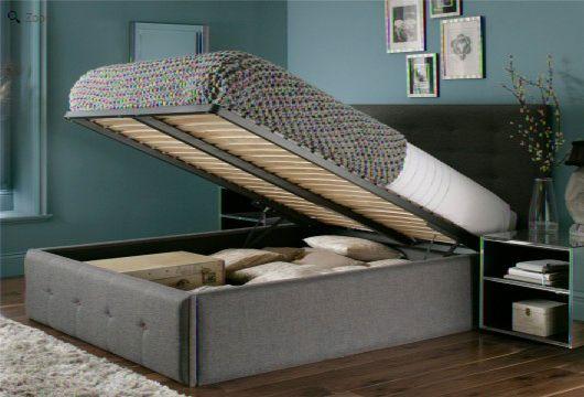 Upholstered Ottoman Bed Homehighlight Co Uk
