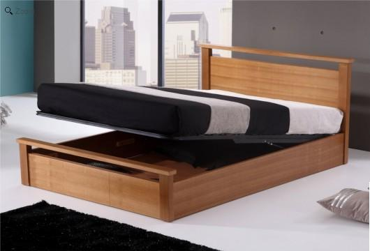 Wooden storage bed for Storage beds uk