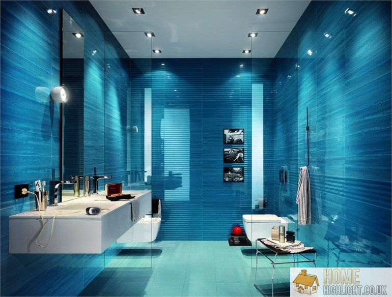 Modern blue bathroom designs ideas home highlight for Blue bathroom ideas