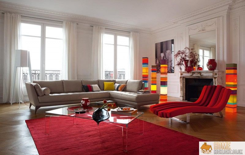 28 cool colourful living room design photos home highlight for Decoration salon 2016