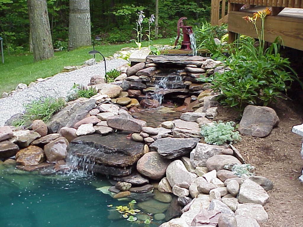 Inspirational idyllic garden water features home highlight for Garden waterfall