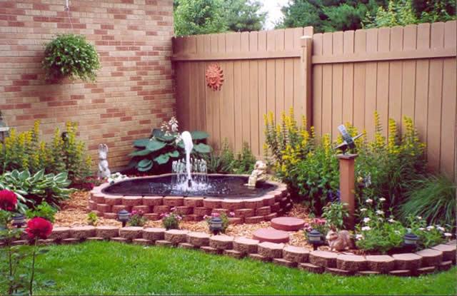 Inspirational idyllic garden water features home highlight for Garden features for small gardens