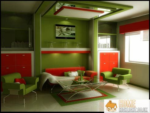 28 cool colourful living room design photos home highlight Orange and red living room design