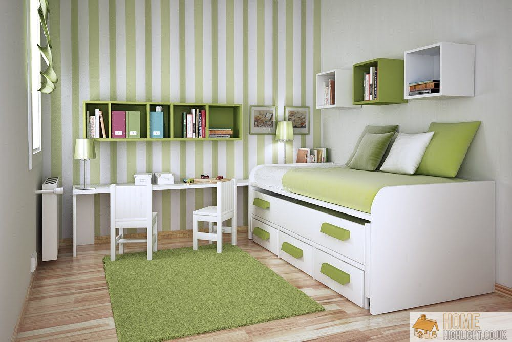 Practical design ideas for small bedrooms home highlight for Bedroom ideas green