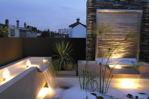 Sleek Curves Light Colours Fast Flowing Water And Contemporary
