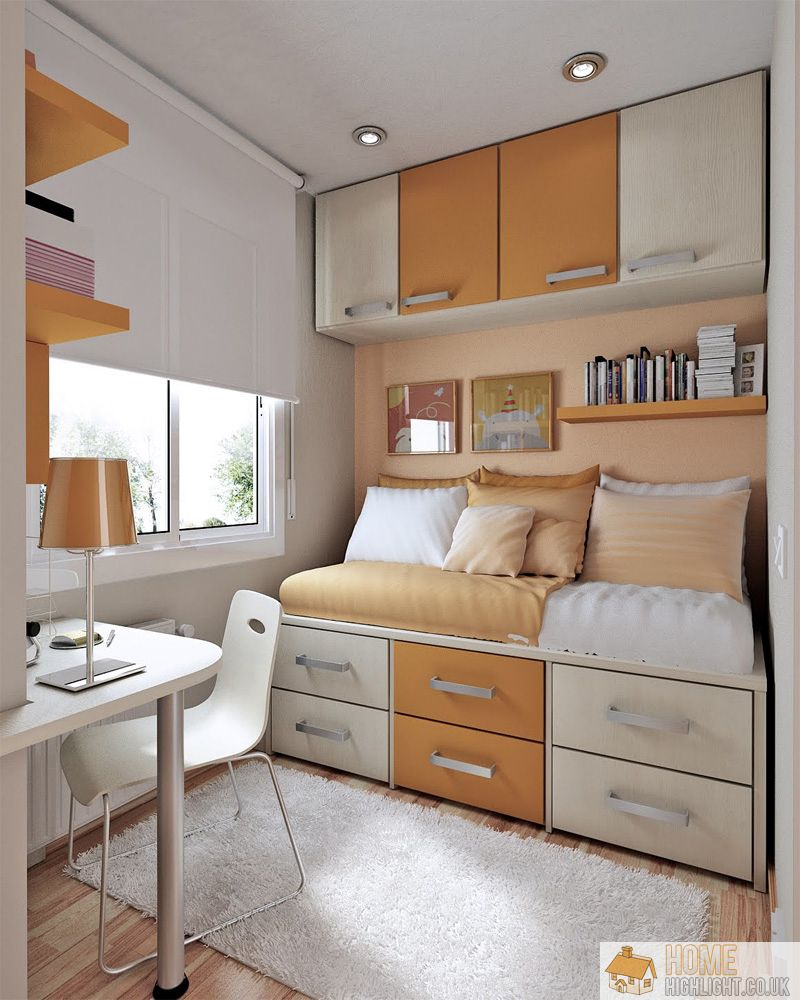 Practical design ideas for small bedrooms home highlight for Bedroom designs uk