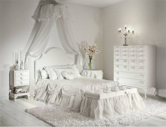 15 beautiful white bedroom design ideas inspirations home highlight. Black Bedroom Furniture Sets. Home Design Ideas
